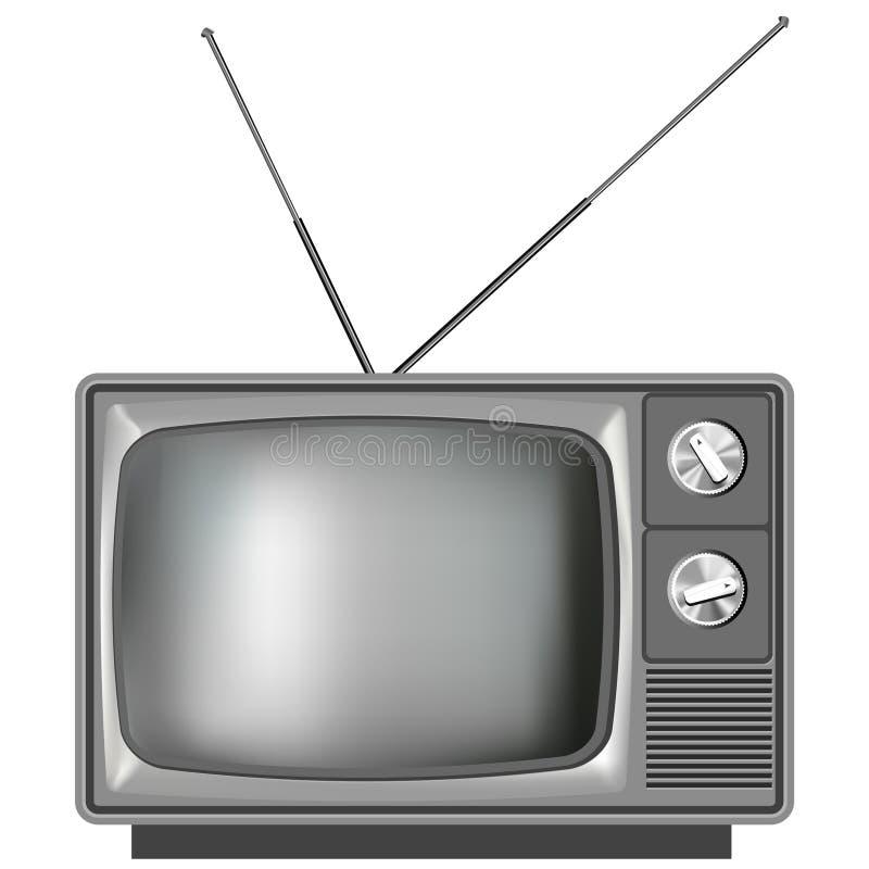 Vieja ilustración realista de la televisión de la TV ilustración del vector