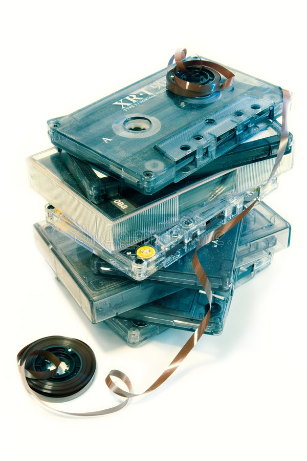 Vieja música del cassette imagen de archivo