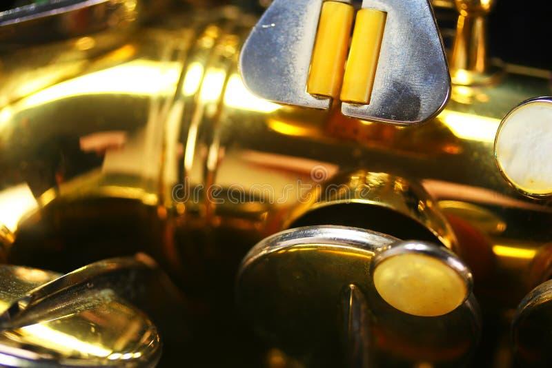 Vieja macro del saxofón foto de archivo libre de regalías