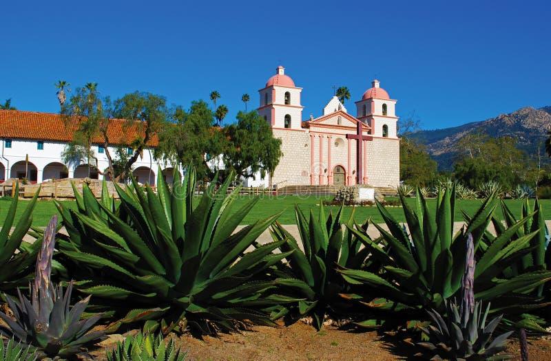 Vieja misión Santa Barbara imagen de archivo libre de regalías