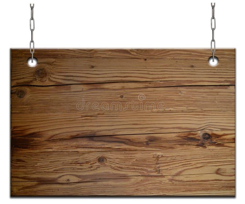 Vieja muestra de madera vacía stock de ilustración