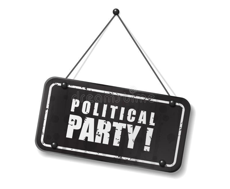 Vieja muestra negra del vintage con el texto del partido político libre illustration