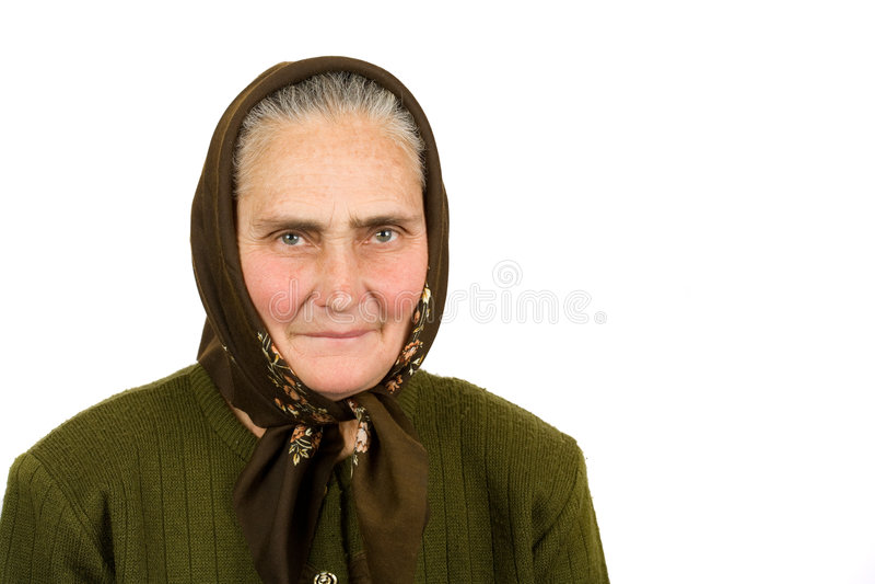 Vieja mujer campesina fotos de archivo