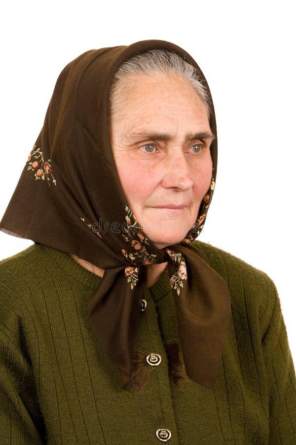 Vieja mujer campesina foto de archivo libre de regalías