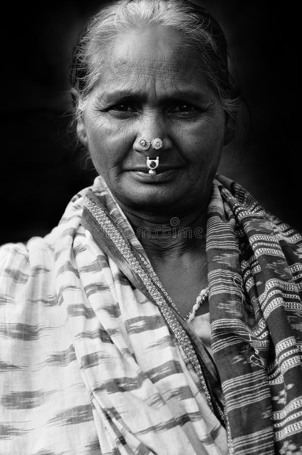 Vieja mujer india imágenes de archivo libres de regalías