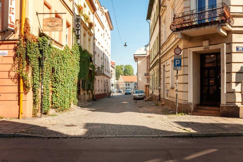 Vieja opinión de centro de ciudad de Kraków fotografía de archivo libre de regalías