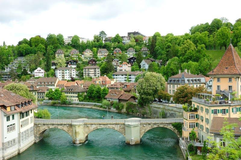 Vieja opinión de la ciudad de la ciudad de Berna fotos de archivo libres de regalías