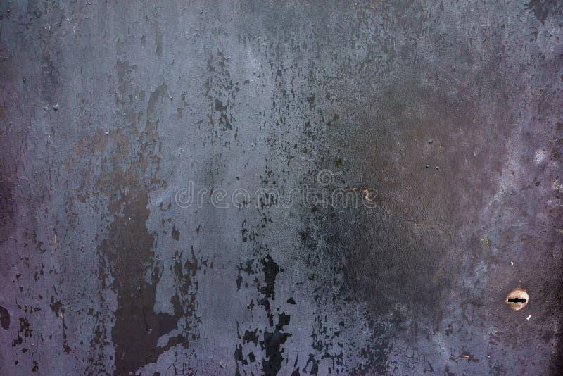 Vieja, oxidada superficie de metal Fondo de la oscuridad del Grunge Foto del primer libre illustration