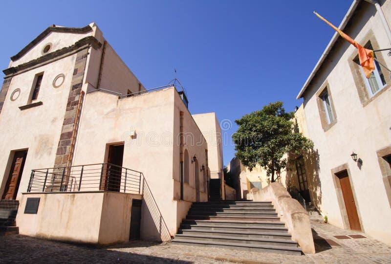 Vieja parte de Lipari, Italia imagen de archivo libre de regalías