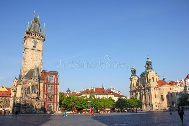 Vieja plaza, centro de la ciudad Praga foto de archivo