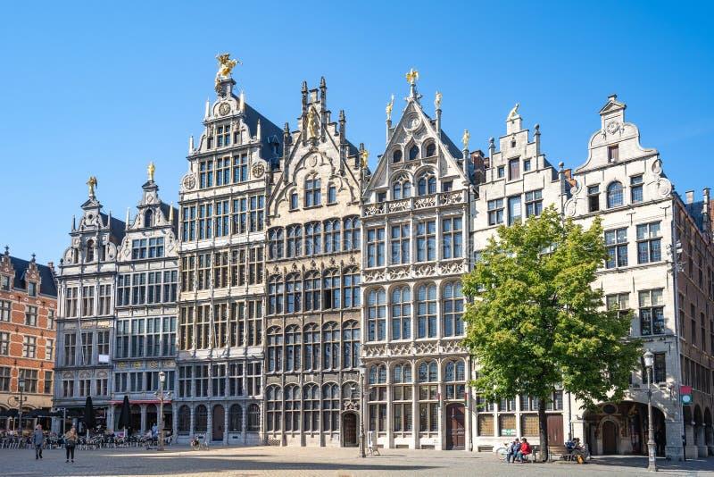 Vieja plaza de Amberes en Bélgica imagen de archivo libre de regalías