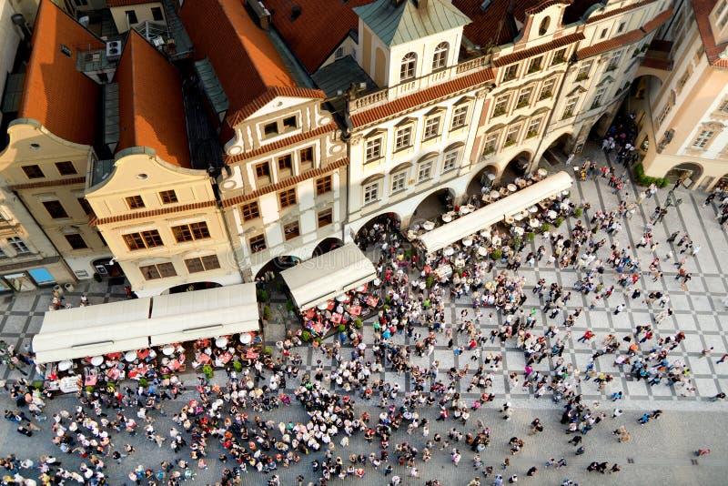 Vieja plaza de Praga fotografía de archivo
