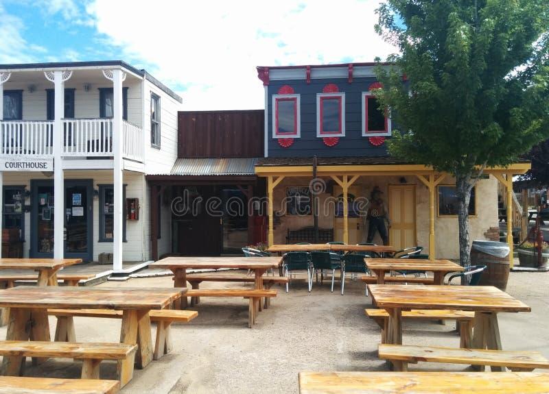 Vieja plaza del oeste en Williams, AZ fotografía de archivo