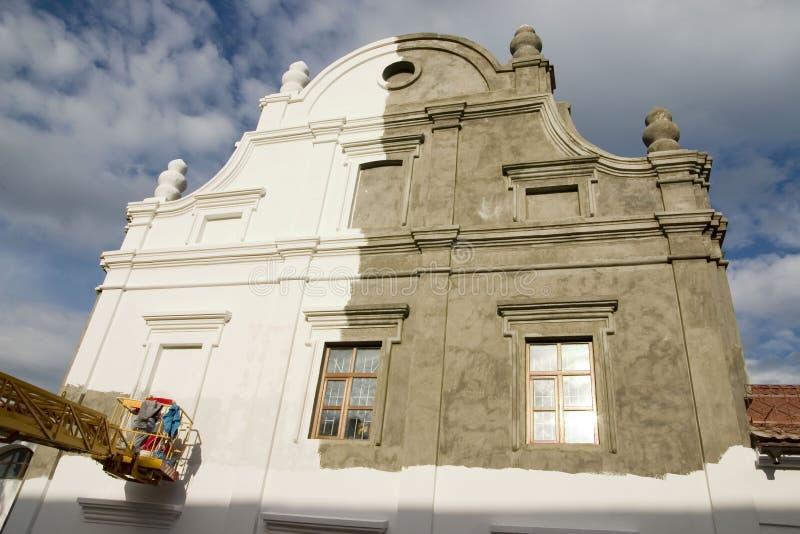Vieja renovación del edificio imágenes de archivo libres de regalías