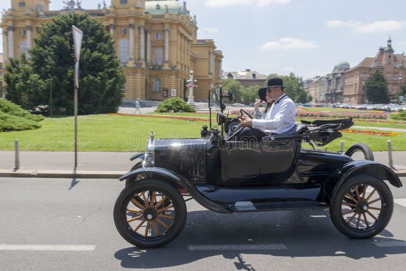 Vieja reunión de los coches del contador de tiempo fotografía de archivo