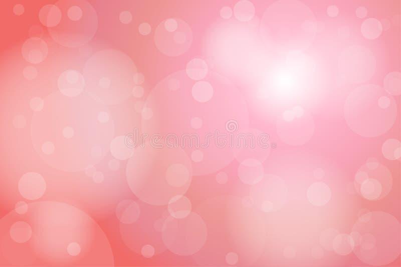 Vieja Rose Bokeh Abstract Background rosa clara ilustración del vector