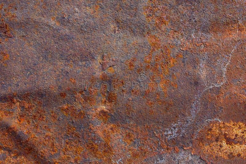 Vieja superficie de metal aherrumbrada fotografía de archivo libre de regalías