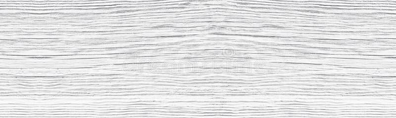 Vieja textura amplia pintada blanca agrietada de la superficie de madera Fondo rústico panorámico de madera blanqueado del vintag imagen de archivo libre de regalías
