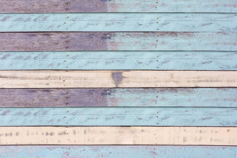 Vieja textura azul de madera del color fotografía de archivo