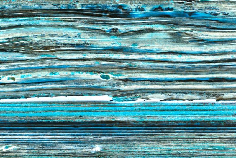 Vieja textura azul de madera del grunge de la puerta imágenes de archivo libres de regalías