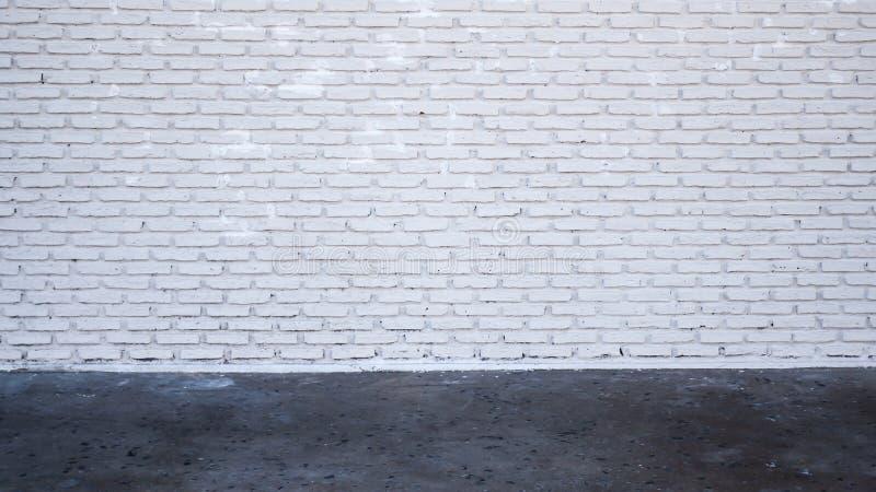 Vieja textura blanca de la pared de ladrillo para el fondo imagenes de archivo