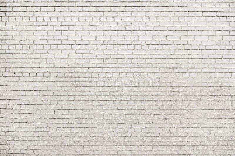 Vieja textura blanca del fondo de la pared de ladrillo foto de archivo