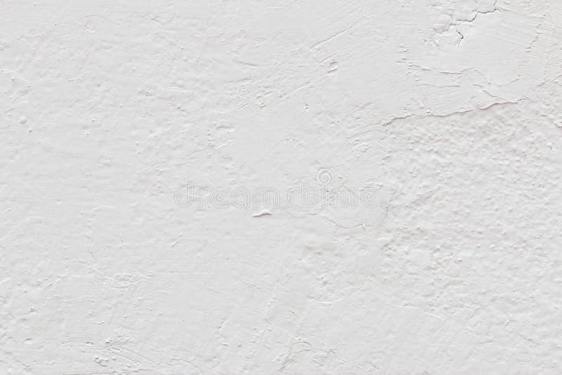 Vieja textura blanca del muro de cemento fotos de archivo libres de regalías