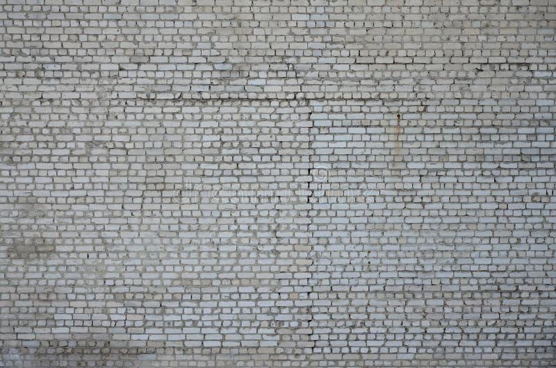 Vieja textura blanca resistida de la pared de ladrillo fotografía de archivo libre de regalías