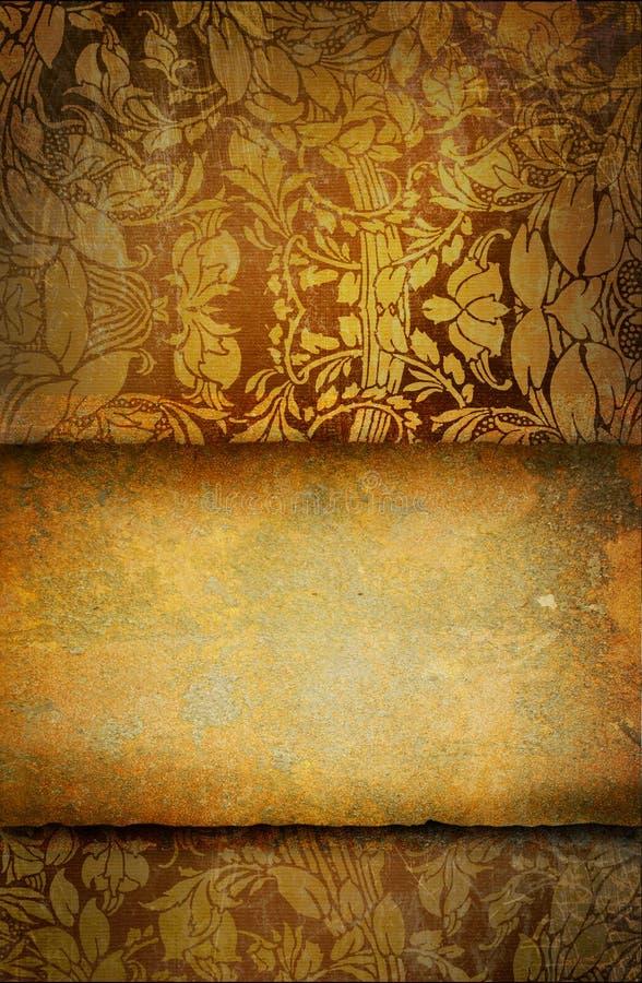 Vieja textura con los ornamentos libre illustration