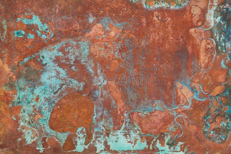Vieja textura de cobre imagen de archivo