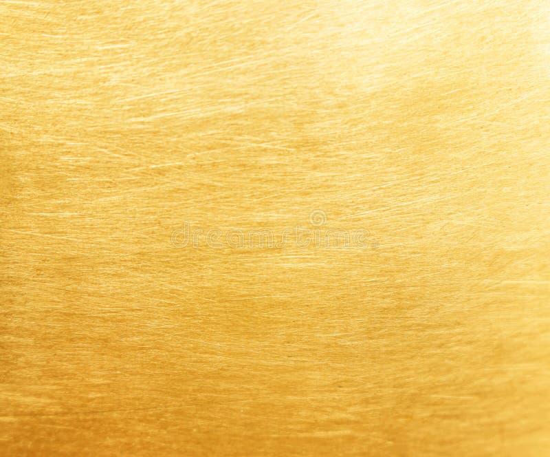 Vieja textura de cobre amarillo para el fondo foto de archivo libre de regalías