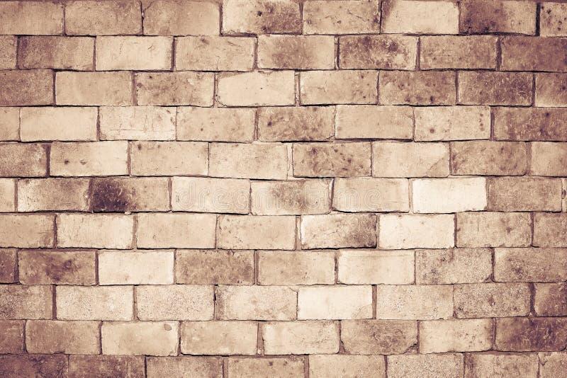 Vieja textura de la pared de ladrillo para el fondo, tono del color del vintage imágenes de archivo libres de regalías