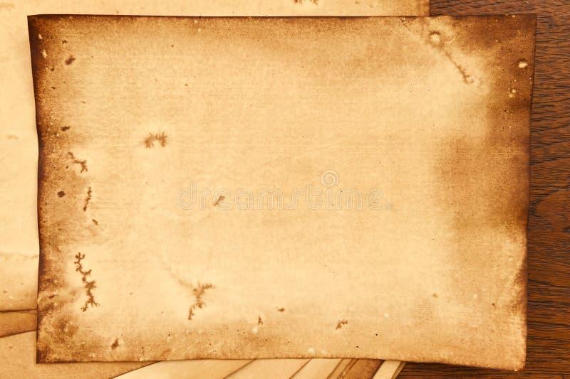 Vieja textura de los papeles fotos de archivo libres de regalías