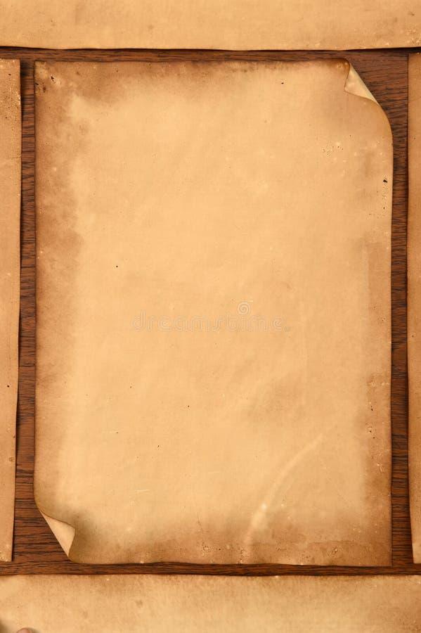 Vieja textura de los papeles imagen de archivo