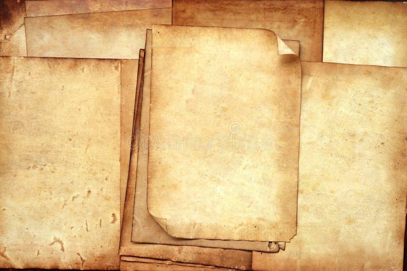 Vieja textura de los papeles para el fondo fotografía de archivo