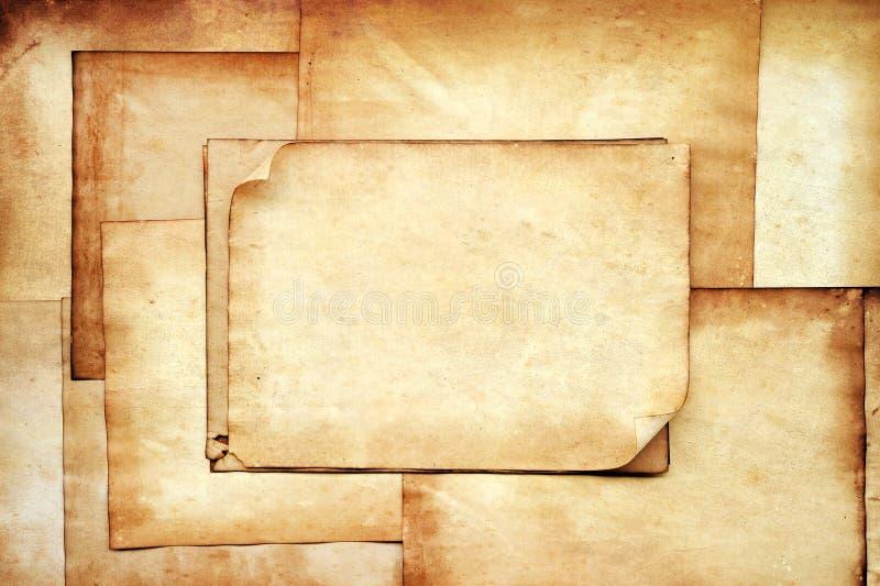Vieja textura de los papeles para el fondo fotos de archivo