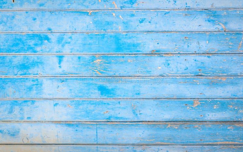 Vieja textura de madera azul rústica, fondo de los paneles de los tablones fotos de archivo