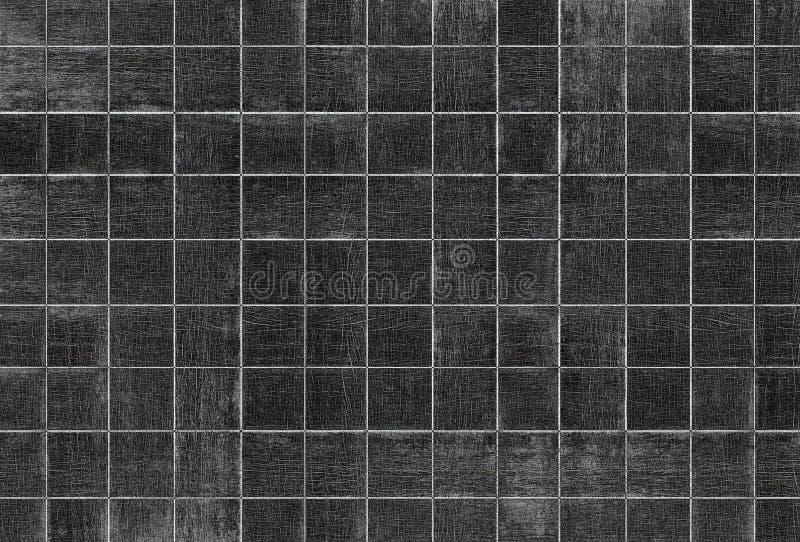 Vieja textura de madera del grano con los modelos cuadrados foto de archivo