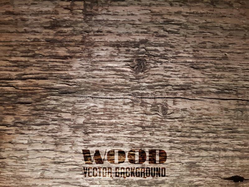 Vieja textura de madera del vector ilustración del vector