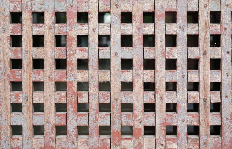 Vieja textura de madera de la pared de la rejilla para la ventilación del aire imagen de archivo