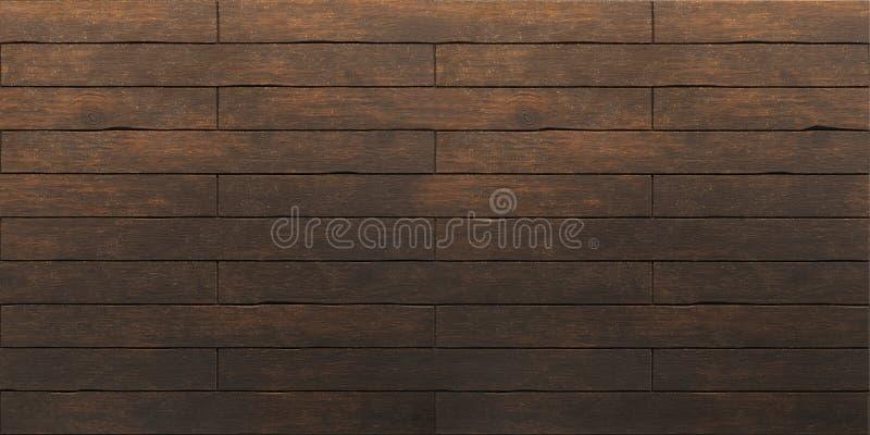 Vieja textura de madera marrón oscura de los tablones foto de archivo libre de regalías