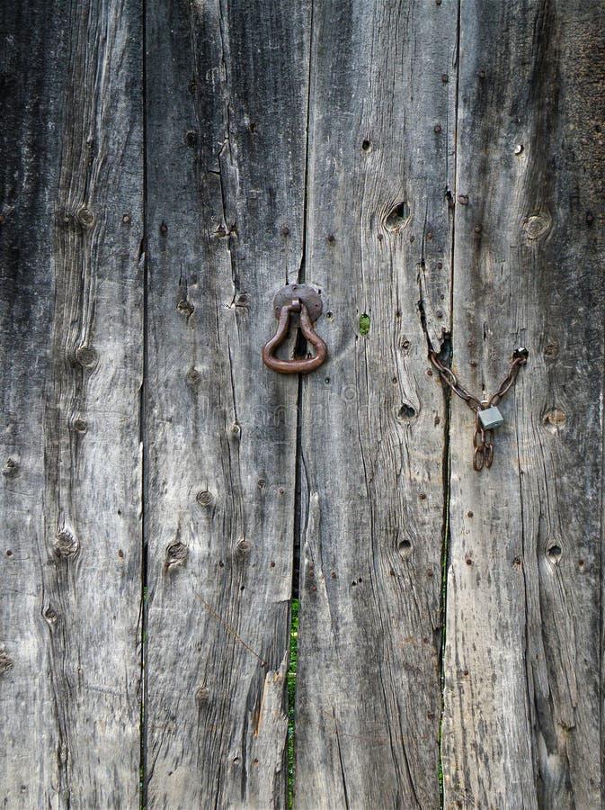 Vieja textura de madera real de la puerta foto de archivo libre de regalías