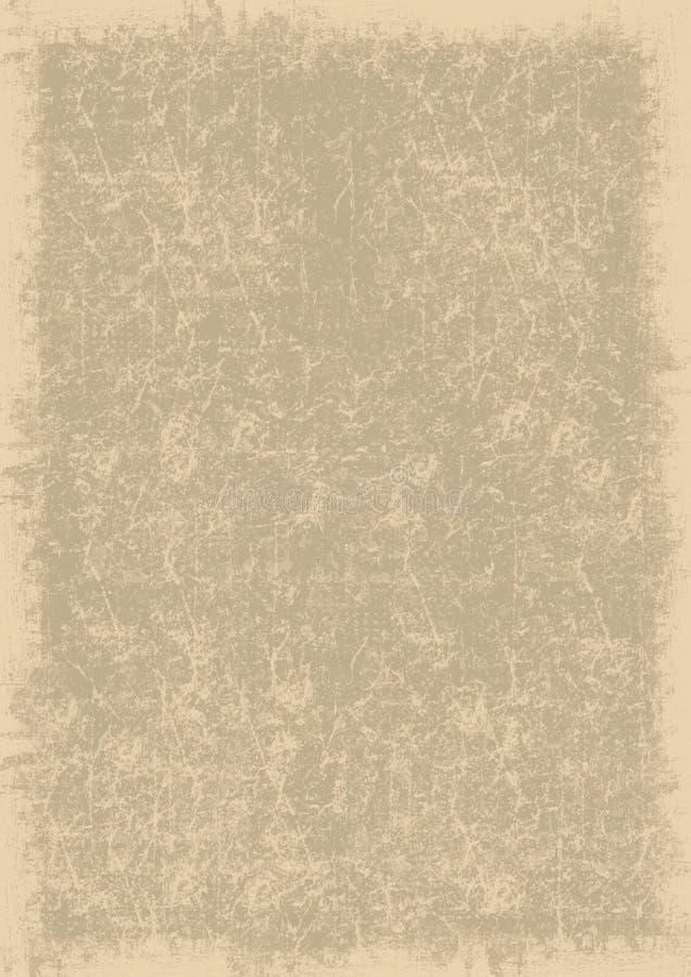 Vieja textura de papel stock de ilustración