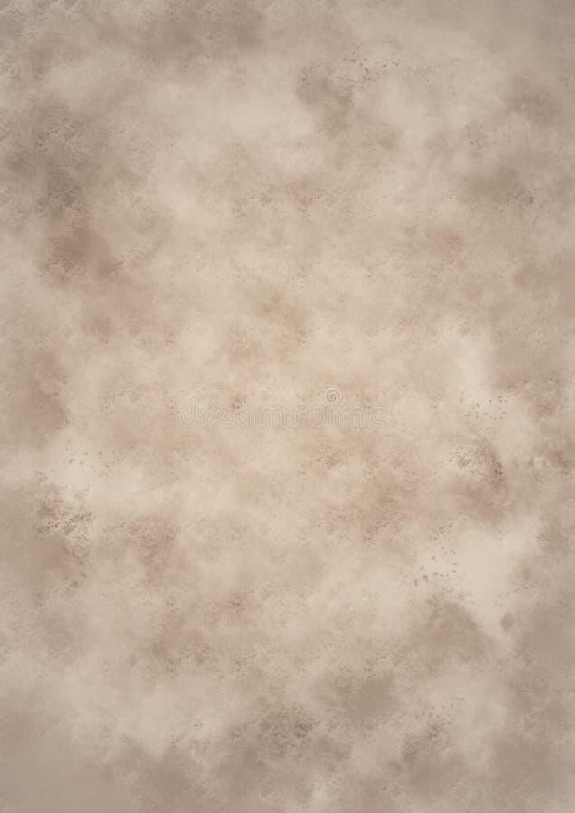 Vieja textura de papel del fondo stock de ilustración