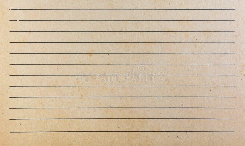 Vieja textura de papel del libro viejo Ciérrese encima del papel viejo del vintage foto de archivo