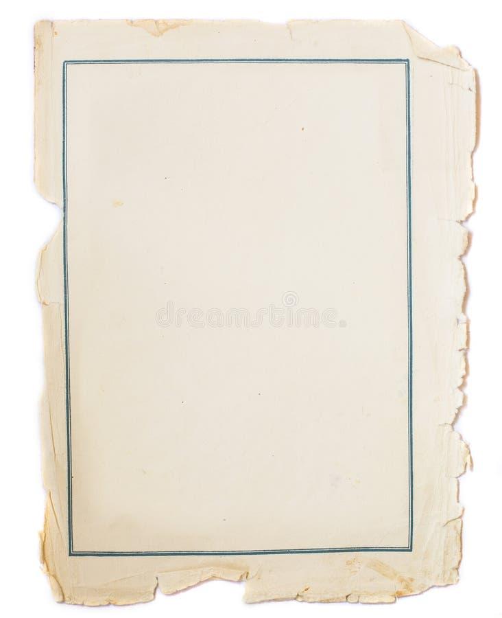Vieja textura de papel del vintage imagenes de archivo