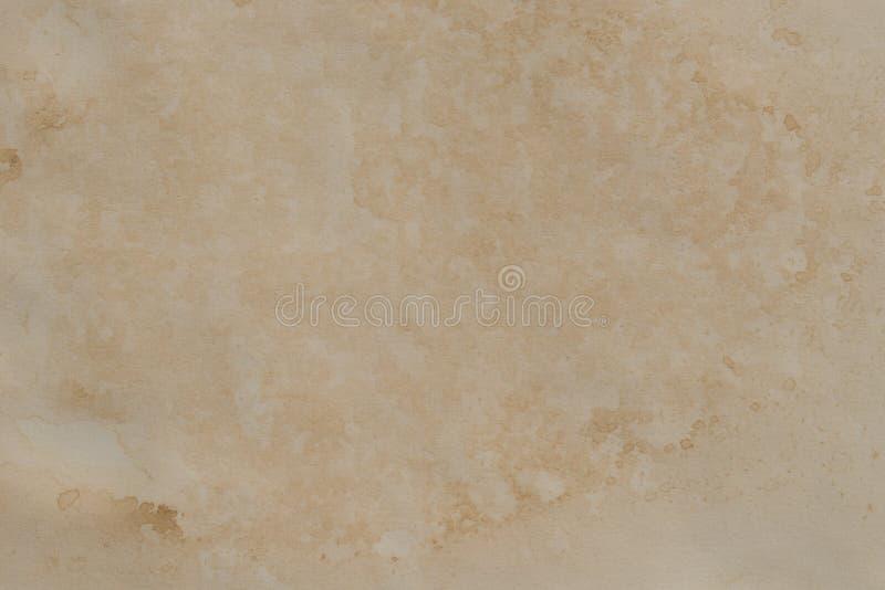 Vieja textura de papel manchada del fondo stock de ilustración