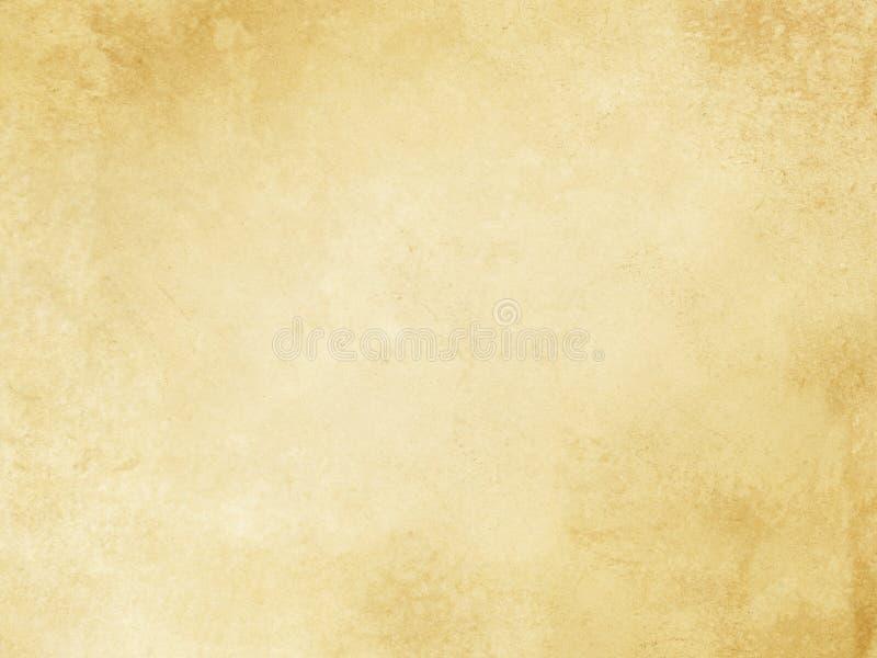 Vieja textura de papel manchada y amarilleada ilustración del vector