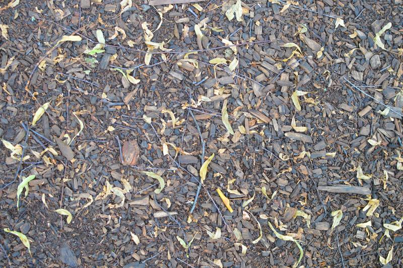 Vieja textura del camino negro de piedra foto de archivo