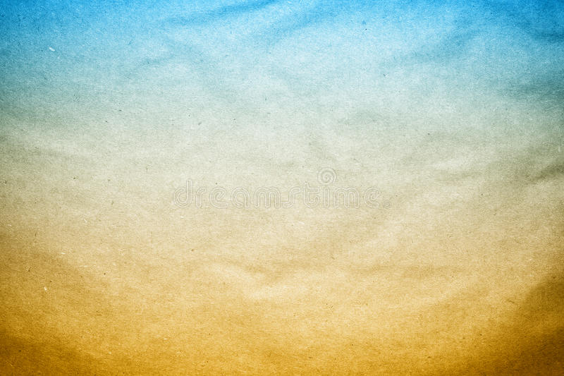 Vieja textura del documento de información de Brown azul imágenes de archivo libres de regalías